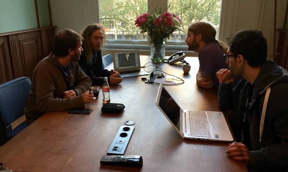 Une des participations aux discussions avec les développeurs du rig de blender.