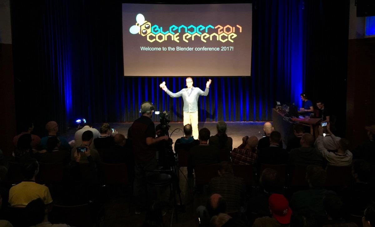 Ton Roosendaal lance la Blender conference 2017 dans sa traditionnelle keynote