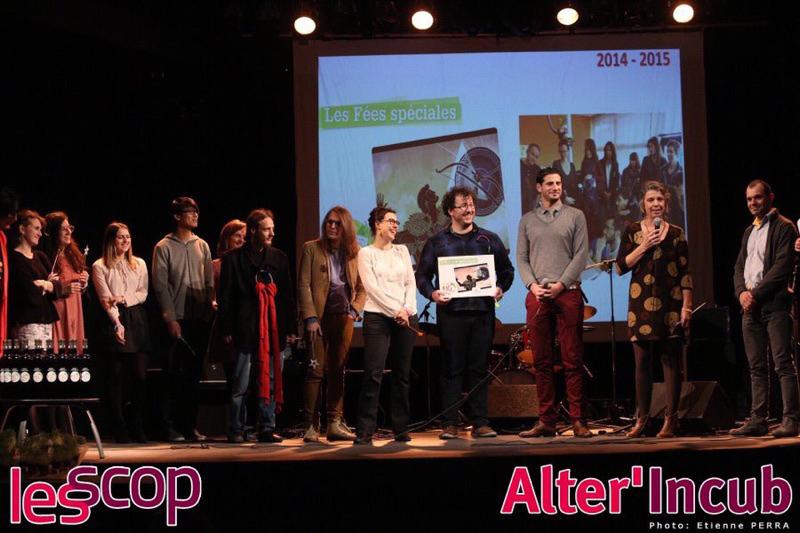 L'équipe des Fées sur scène pour l'anniversaire d'Alter'Incub