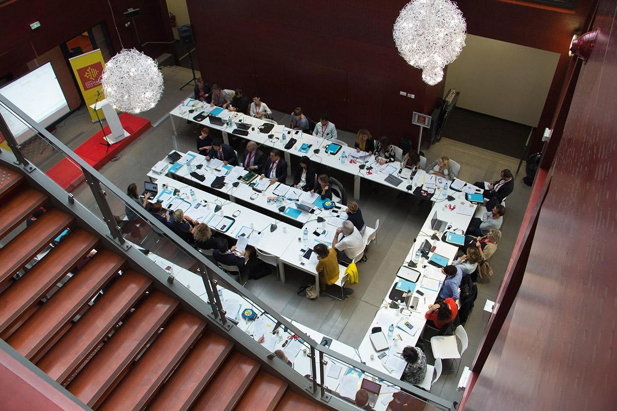 Une vue de l'agora de Réalis lors de la commission