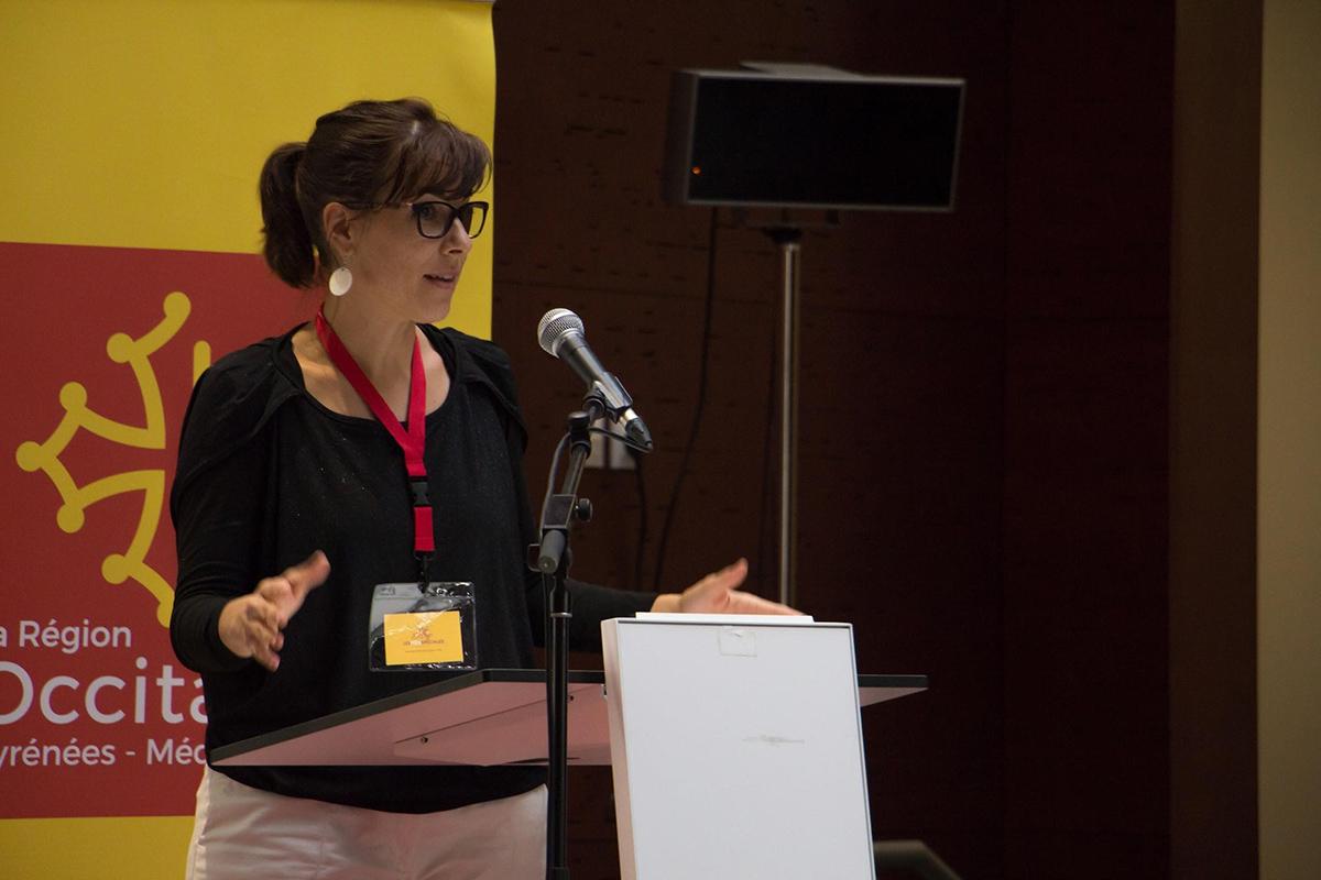 Sophie Marron représentant Les Fées Spéciales à la Commission Interméditerranéene