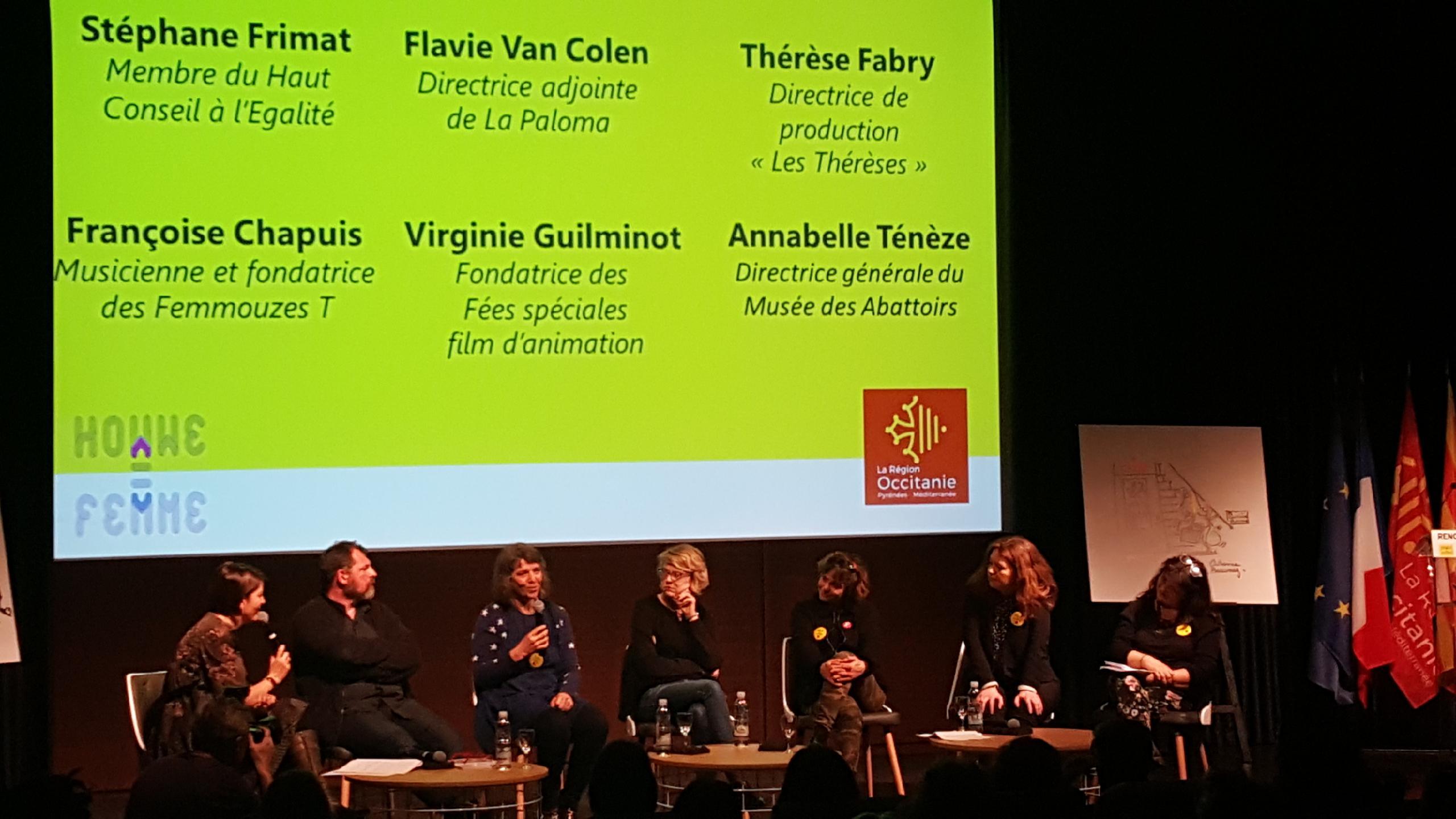 """la table ronde ronde """"La place des femmes dans la création artistique en Occitanie"""""""
